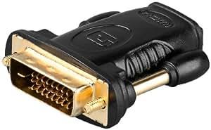 DVI / HDMI Adapter mit vergoldeten Anschlüßen Male / Female