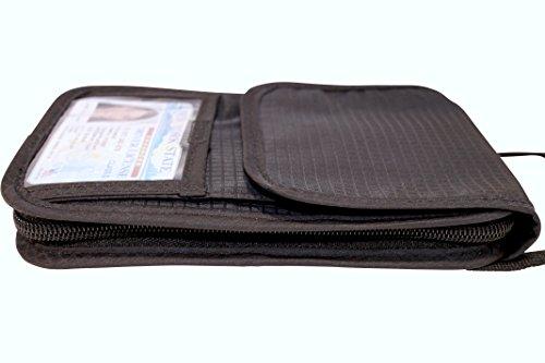 Travel Wallet And Passport Holder Neck Pouch Rfid