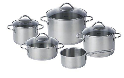 Fissler Vienna (Induction) Set, Frying & Cooking Pot, Casserole, Stainless Steel, 5Pcs.