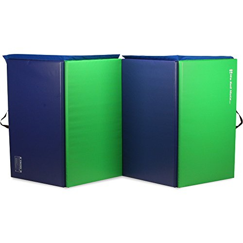 We Sell Mats Folding Exercise Gym Mats, 4 X 10', Lime