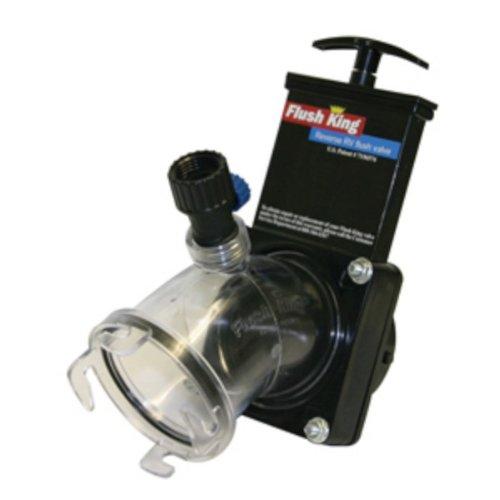 Valterra F02-4350 Black 'Flush King' Reverse RV Flush Valve