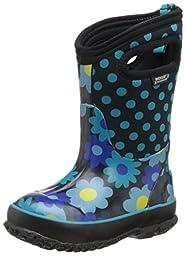 Bogs Classic Flower Dot Waterproof Insulated Rain Boot (Toddler/Little Kid/Big Kid), Teal,9 M US Toddler