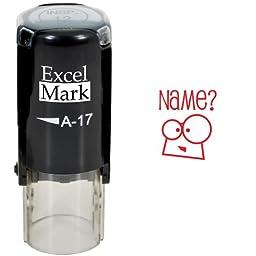 Round Teacher Stamp - NAME? - RED INK