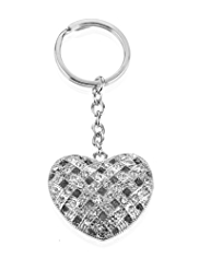 M&S Collection Diamanté Heart Keyring