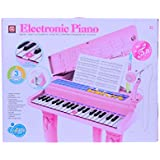 Planet Of Toys Electronic Piano With Microphone And Stool