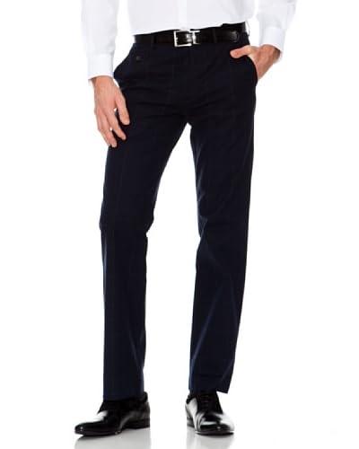 Dockers Pantalón Recto De Cuadros Azul Oscuro
