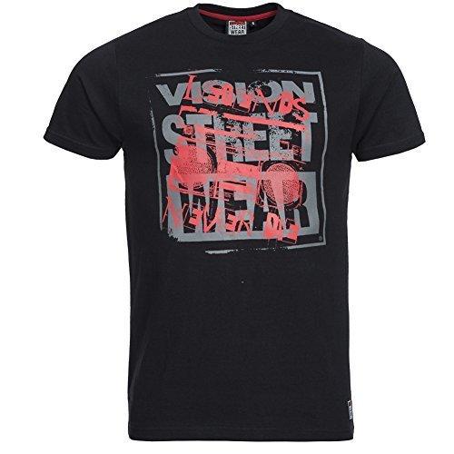 Vision Street Wear Herren LEGENDS Skateboarding Tee Shirt Schwarz Gr. L