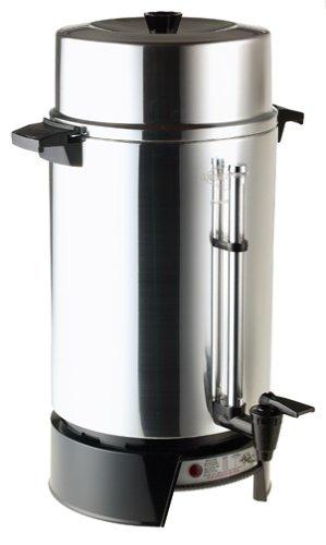 West Bend 100-Cup Commercial Coffee Urn Features Coffee-Level Gauge; with