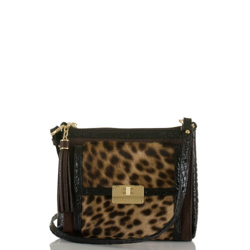 Mimosa Crossbody<br>Leopard Color Block Camel