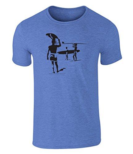 the-endless-summer-silhouette-grafik-unisex-t-shirt-offiziell-lizenziert-von-bruce-brown-films-blau-