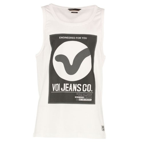 Voi Jeans Herren Dunsster Top Weiß - L To Fit Chest 38-40 Euro Large
