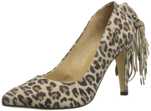 Rue Princesse Women's Cheyi Court Shoes Yellow Jaune (Leopard) 4