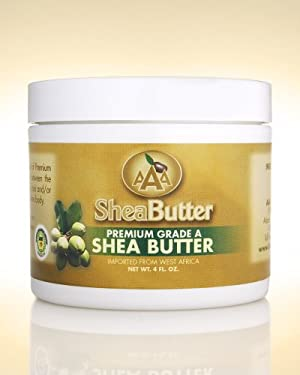 100% Unrefined Certified Grade A Shea Butter 4 oz.