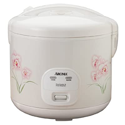 Aroma 20-Cup (Cooked) (10-Cup UNCOOKED) Cool Touch Rice Cooker and Food Steamer with Flowers Design (ARC-1260F) by Aroma Housewares