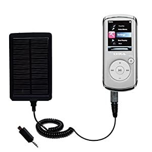 Solar Powered Rechargeable External Battery Pocket Charger for the RCA MC4202 MC4204 MC4208 OPAL - uses Gomadic TipExchange Technology