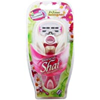 Dorco Shai Soft Touch 6-Blade Woman's Razor with 2 Blade Cartridges
