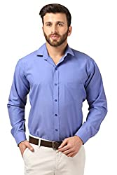 Mesh Full Sleeves Casual Cotton Blend Shirt for Men's/Boy's (Turquoise) -38