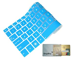 "Colorful Keyboard Protector Cover Skin for Dell XPS L502/L502x, Inspiron M5040/N5040/N5050/N4110/N4050/N411z, Vostro 3350/V3350/3450/V3450/3550/3555/V1450/V131 (Watch Out:""Product Description"" Part) (Dodger Blue)"