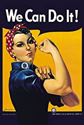 "Vintage WWII poster ""We Can Do It!"" -- ""Rosie the Riveter"" by Miller"