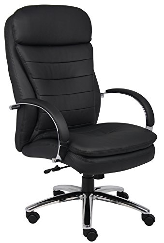 boss-office-products-b9221-high-back-executive-caressoftplus-chair-with-chrome-base-in-black