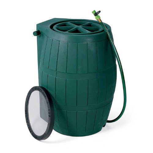 Achla Designs RB-01 Green Rain Barrel - 54 gallon