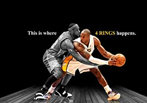 Amazon.com : Kobe Bryant vs Lebron James Spotlight Poster