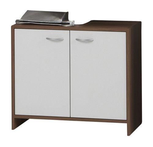 FMD - Waschbeckenunterschrank Madrid 64 x 56,5 x 33 cm zwetschge/weiß