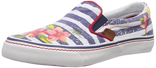 Pepe Jeans London ALFORD JAMAICA, Low-Top Sneaker donna, Blu (Blau (575NAVAL BLUE)), 40
