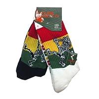 Socks Rasta Skeleton 1 White 1 Black -2 pairs of socks Medium Fits Shoe 4-8.5