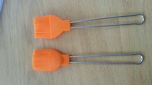Silicone Basting Pastry Brush Orange