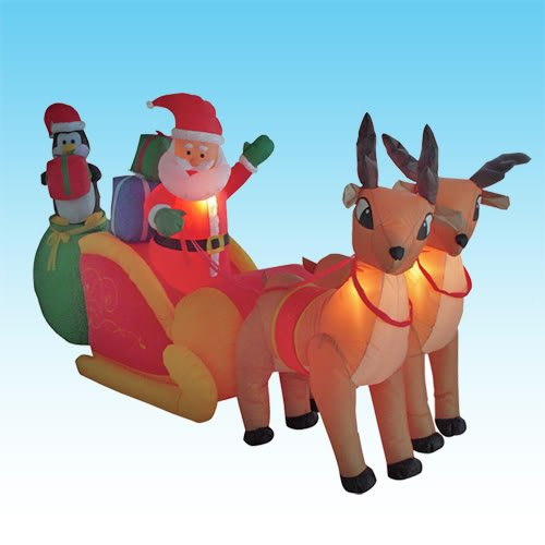 8.5 Foot Long Christmas Inflatable Santa Claus