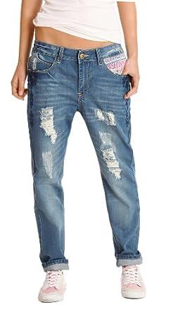 """n.n jean femme baggy, jean """"boyfriend"""", jean, jean à taille basse j85p 42/XL"""