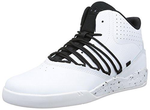 Supra ESTABAN, Sneaker alta uomo, Bianco (Weiß (WHITE / BLACK - WHITE     WBK)), 41