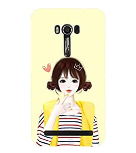 Printvisa Yellow Jacket Cute Girl Back Case Cover for Asus Zenfone Go::Asus Zenfone Go ZC500TG
