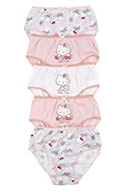 5 Pack Hello Kitty Pure Cotton Assorted Briefs
