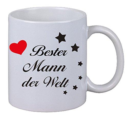 """Kaffee Tasse Becher """"Bester Mann der Welt"""" Geschenk Geburtstag Liebe Ehemann"""