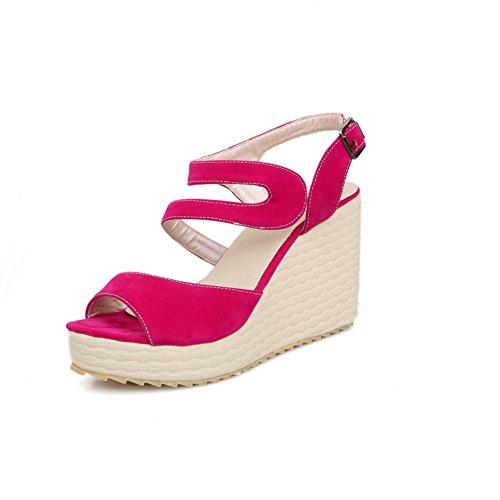 adee-ninas-solido-high-heels-sandalias-de-poliuretano-color-rojo-talla-34