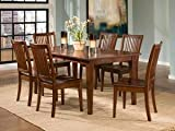 Eli 7-Piece Slat Back Casual Dining Set (As Pictured)