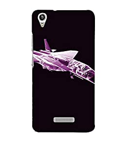 PrintVisa Fighter Plane Design 3D Hard Polycarbonate Designer Back Case Cover for LAVA PIXEL V1