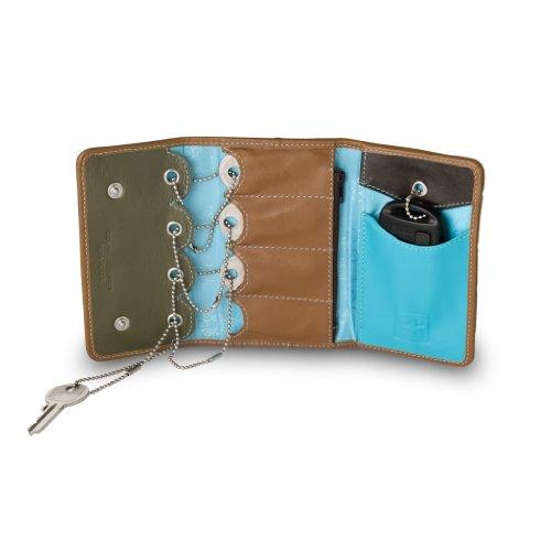 Unisex multicolour leather keychain for 5 keys