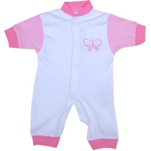 Premature Early Baby Clothes Romper 1.5 - 5.5Lb Pink With Butterfly Motif