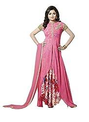 Khushi Trendz Georgette Cream Semi Stitched Salwar Suit
