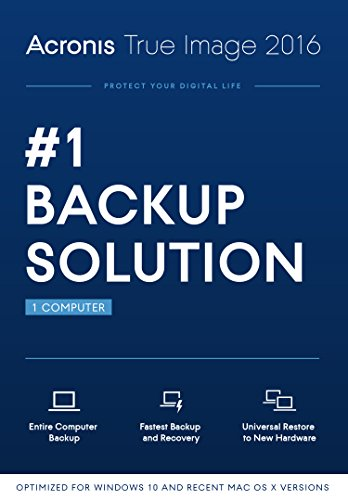 Acronis True Image 2016 (1 Computer) [Old Version]