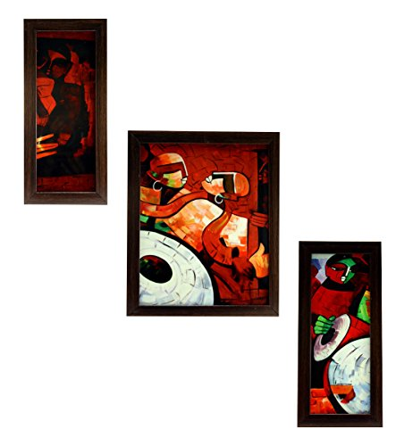 3 PIECE SET OF FRAMED WALL HANGING ART - B01DPNMKB0