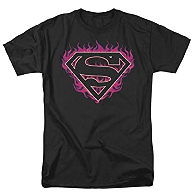 Superman: Fuchsia Flames T-Shirt