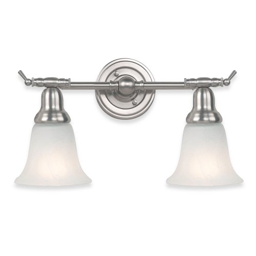 Royce Lighting RV700-2-12 Prescott 2 Light Vanity Brushed Steel