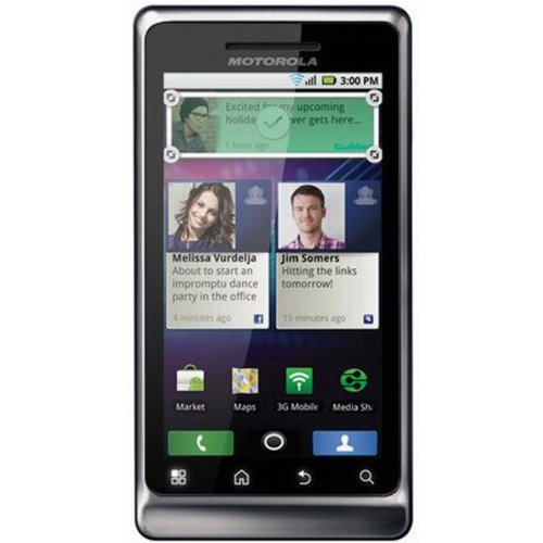 Motorola Milestone 2 Unlocked Cell Phone with 5 MP Camera, MP3, GPS Navigation,720p HD video--International Version with No Warranty