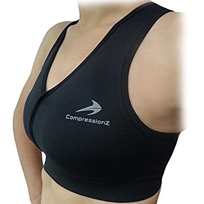 Sports Bra Compression - Best Women Running, Gym, Yoga, Fitness Impact Support from CompressionZ