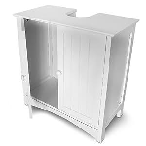 Armadietto basso con 2 ante armadio per lavandino lavello for Armadio bagno bianco