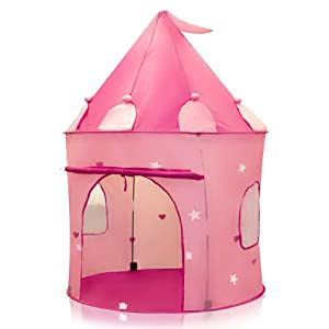 Sky Enterprise Usa Products - Pink Princess Castle Kids Play Tent Girl Fairy Play House - Instantly Sets Up In Minutes from Sky Enterprise USA